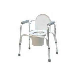 GF Health 2195A-4 3-in-1 Aluminum Commode with Removable Back Bar (Pack of 4)