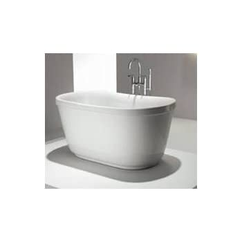 Modern bathtub soaking bathtub freestanding bathtub floriello 51 soaking tubs for Woodbridge 54 modern bathroom freestanding bathtub