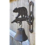 (Cast Iron Hanging Bear Bell )