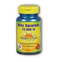 Nature's Life Beta Carotene Softgels, 25,000 IU, 250 Count