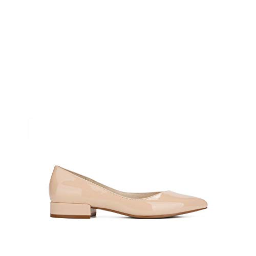 - Kenneth Cole New York Camelia Patent Leather Ballet Flat Nude