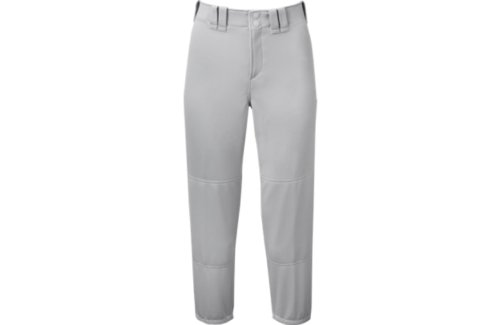 Mizuno Select Belted Low Rise Fastpitch Softball Pants Grey Small by Mizuno