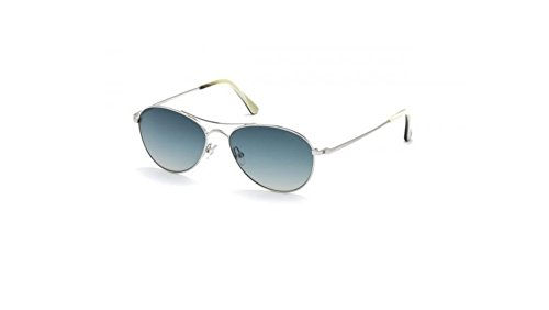 Tom Ford - OLIVER FT 0495, Aviator, metal, men, SHINY PALLADIUM/GREY BLUE SHADED(18W), - Tom Aviators Ford Sale