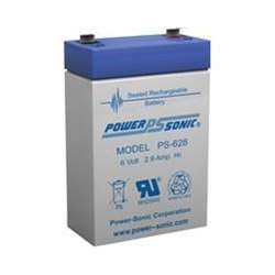 Powersonic PS-628 - 6 Volt/2.9 Amp Hour Sealed Lead Acid Battery with 0.187 Fast-on Connector