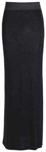 Purple Hanger Women's Straight Gypsy Elastic Full Skirt Black 8-10