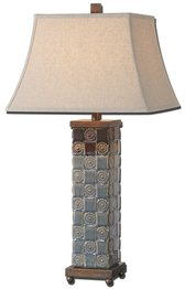 Uttermost 27398 Mincio Lamp (Table Square Uttermost Lamp Linen)