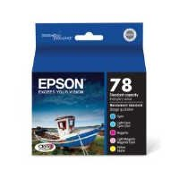 Epson T078920 Claria Hi-Definition 78 Standard-capacity Inkjet Cartridge Color Multipack -1 Cyan/1 Light Cyan/1 Magenta/1 Light Magenta/1 Yellow