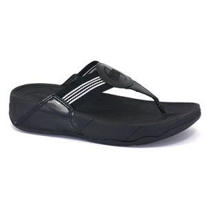 1685a5e9e98a1 Image Unavailable. Image not available for. Colour  Fitflop Walkstar Black  Size 6