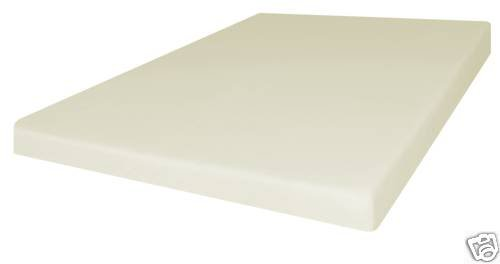 Queen Size 4 Inch Firm Conventional Polyurethane Foam RV/Truck Mattress Bed Cushion USA Made - 4