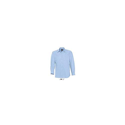 SOLS Herren Oxford-Hemd Boston langarm, Sky Blue, M