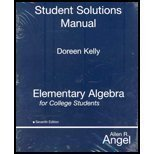 Student Solutions Manual: Elementary Algebra for College Students, 7th Edition by Doreen Kelly, Allen R. Angel (2007) Pa