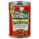 - Chef Boyardee Beefaroni, 15-ounce (Pack of 12)