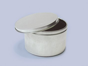 Qty. of 200 4 oz. Deep Tin Containers Body and lid assemblied by Buckeye Shapeform
