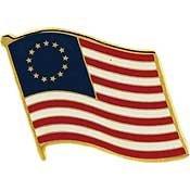 [Metal Lapel Pin - American Flag / Betsy Ross Original Design] (Betsy Ross Hat)