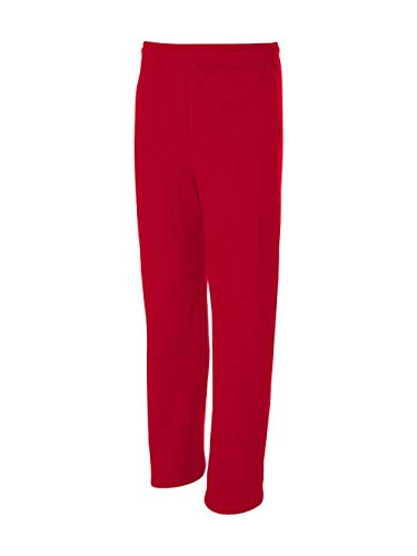Jerzees Dri-Power Poly Pocketed Open-Bottom Sweatpants, XX-Large - True Red