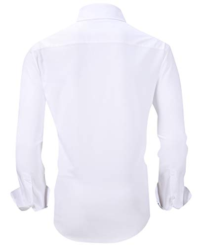 Mens Dress Shirts Wrinkle Free Regular Fit Long Sleeve Bamboo Casual Button Down Shirts 2