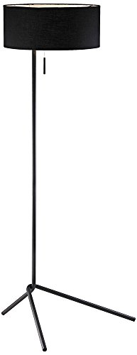 "21k8VUHvPFL - Adesso 6191-01 Twixt 59"" Floor Lamp, Black, Smart Outlet Compatible"