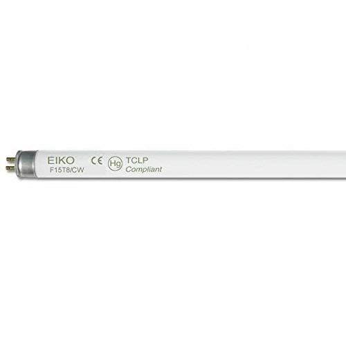 Eiko 15521-4 F15T8//CW Straight T8 Cool Fluorescent Tube Light Bulb 18 Long Pack of 4 White