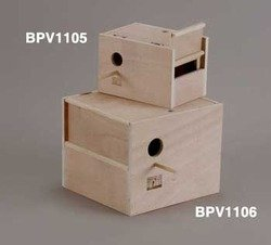 Prevue Pet Products BPV1105 Outside Mount Nest Box for Parakeet, Medium (Prevue Nest)
