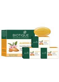 BIOTIQUE ALMOND OIL Nourishing Body Soap,75g*4 (300gm)
