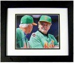 Autograph Warehouse 270954 8 x 10 in. Terry Collins & Regis Philbin Autographed Matted & Framed No.SC3 Photo - New York Mets St Patricks Day
