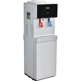 Global Bottleless Water Cooler, Hot & Cold, Non-Filtered, Silver/Black Color Finish