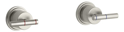 KOHLER K-8253-4-BN Taboret Two-Handle Wall-Mount Valve, Vibrant Brushed Nickel - Shower Taboret