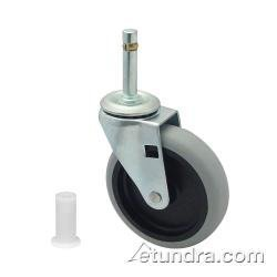 Rubbermaid Commercial Products 3424L6 Replacement Swivel Bayonet Casters, 4 in. Wheel - Black