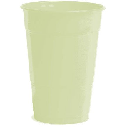 Amscan Big Party Pack 50 Count Plastic Cups, 12-Ounce, Leaf Green