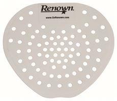 Renown REN03011-HP Flat Urinal Screen, White, Cherry Scent (24 Box PER CASE)