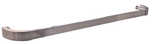 Aria 24'' c/c Single Glass Mount Shower Door Towel Bar - Brushed Nickel by Portals