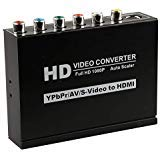 - Runshuangyu Full HD 1080P Composite Video Convert Adapter Support YPBPR CVB S-Video AV R/L Audio to HDMI Auto Scaler for HDTV STB DVD Projector