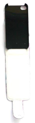 Emartbuy ® Apple Iphone 4S / 4G / 4Gs Hd Flip Case Premium / Couverture / Pochette Azalées Hot Bleu Rose