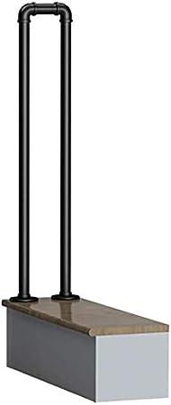 1pcs Handl/äufe Treppengel/änder Gel/änder Treppengel/änder Komplett-Set.Rustic Schwarz Haus Innen Loft Alt rutschfester Griff Kindergarten Industrie Wind Schmiedeeisen Treppengel/änder