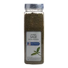 McCormick Rubbed Sage - 6 oz. container, 6 per case