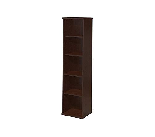 Bush Businеss Furniturе Office Home Furniture Premium Series C 18W 5 Shelf Bookcase in Mocha Cherry