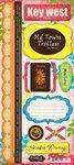 (Scrapbook Customs - World Collection - USA - Florida - Cardstock Stickers - Key West - Paradise)