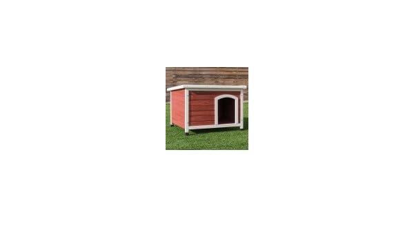 Amazon.com : Casas Para Perros Accesorios Para Perros Gatos Grande Madera Con Albergue Rojo : Pet Supplies