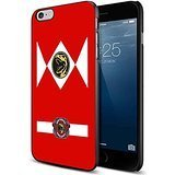 red power ranger morphy costume For iPhone 6/6s Black (Galaxy Rangers Costume)