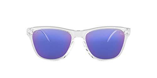 a8d2091fc3 Oakley Junior Kids Infanto Juvenil FROGSKINS XS OJ9006 900603 Transparente  Lente Espelhada Violeta Iridium Tam 53