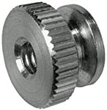 3/8-16X3/4 Inch Round Knurled Thumb Nuts, Stainless Steel (100/Bulk Pkg.)