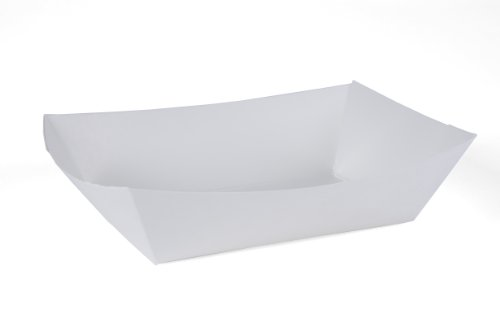 Southern Champion Tray 0556 #300 Paperboard Food Tray / Boat / Bowl, 3 lb Capacity, White (Pack of 500)