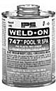 IPS 10855 Weld-On 747 Low Voc Cement Glue for PVC Plastic Pipe, 1/4-Pint, Blue