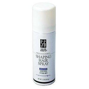 Salon Grafix Professional Shaping Hair Spray - Unscented Super Hold 1.5 oz (12 per box) by Salon Grafix