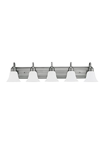 Sea Gull Lighting 44854-965 Gladstone Five Light Wall/Bath, Antique Brushed (Five Light Bath Fixture)