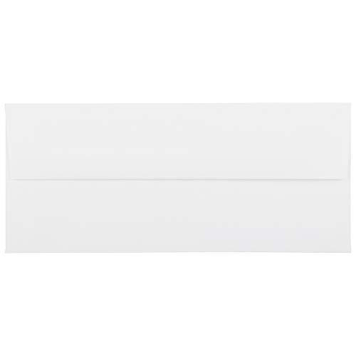 JAM PAPER #10 Business Strathmore Envelopes - 4 1/8 x 9 1/2 - Bright White Linen - 25/Pack