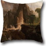 Oil Painting Thomas Cole - Expulsion From The Garden Of Eden Cushion Cases 16 X 16 Inch / 40 By 40 Cm For Floor,kids Boys,sofa,floor,dining Room,adults With Twin Sides
