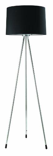 181BK Three Legged Floor Lamp, Black (International 100 Watt 3 Light)