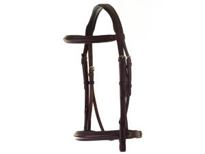 HyCLASS Deluxe Padded Headpiece Bridle - cob - black