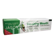 Jason Healthy Mouth Plus CoQ10 Fluoride Gel Toothpaste, Tea Tree, Cinnamon, 6-Ounce Tubes (Pack of 3) - Jason Healthy